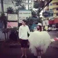 唯美婚纱幸福头像