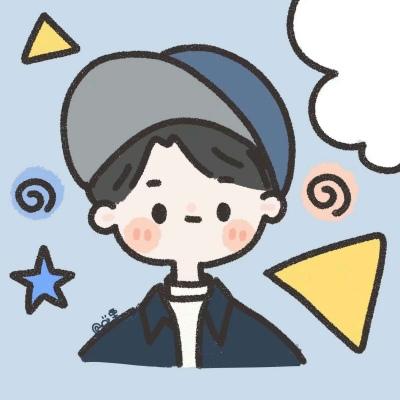 岍妍:可爱简笔画情头^18