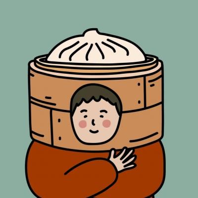 可爱卡通情侣头像 新鲜出笼的包子先生和烧麦女士